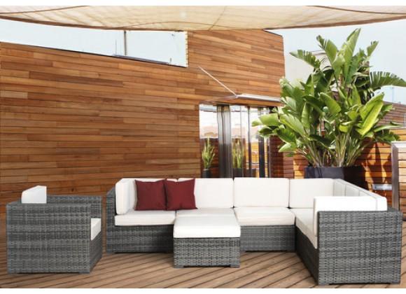 International Home Miami Atlantic Marseille Sectional 8-pc Set