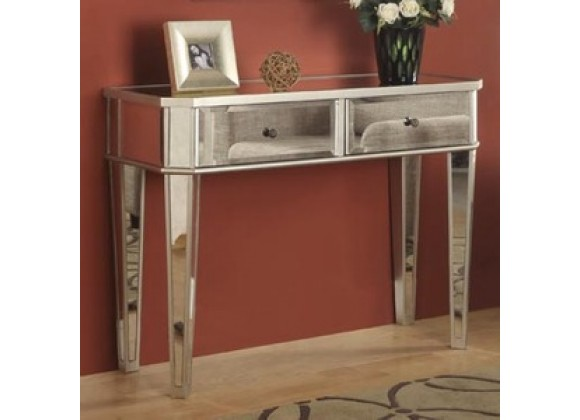 "Powell Mirrored Console with ""Silver"" Wood"