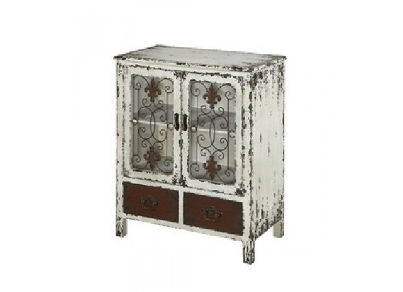 """Powell Parcel """"White"""" 2-Door, 2-Drawer Console"""