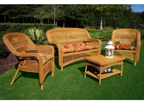Tortuga Outdoor Portside Southwest Amber 4-Piece Seating Set