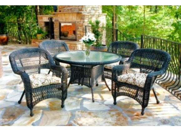 Tortuga Outdoor Portside Dark Roast 5-Piece Dining Set