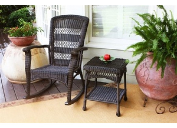 Tortuga Outdoor Portside Plantation Rocker Dark Roast