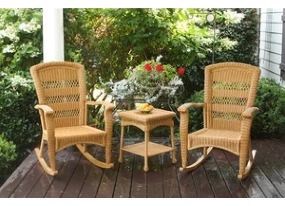 Tortuga Outdoor Portside Plantation Rocker Set Southwest Amber