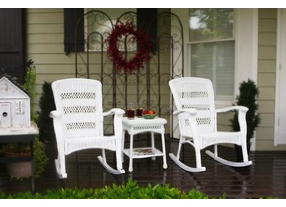 Tortuga Outdoor Portside Plantation Rocker Set White