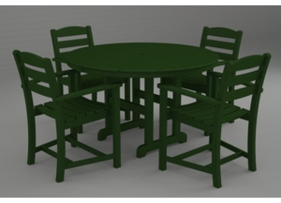 Poly-Wood La Casa 5-Pc. Dining Set in Green