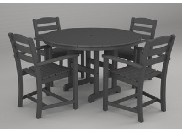 Poly-Wood La Casa 5-Pc. Dining Set in Slate Grey