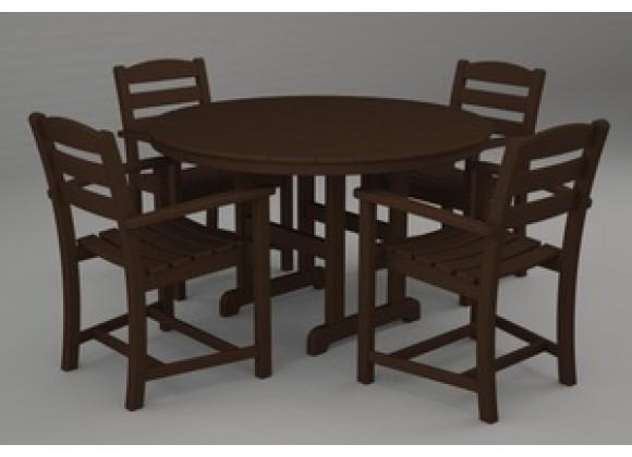 Poly-Wood La Casa 5-Pc. Dining Set in Mahoganyar
