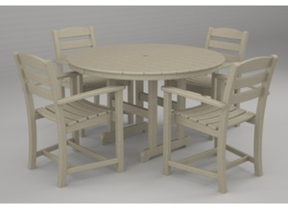 Poly-Wood La Casa 5-Pc. Dining Set in Sand