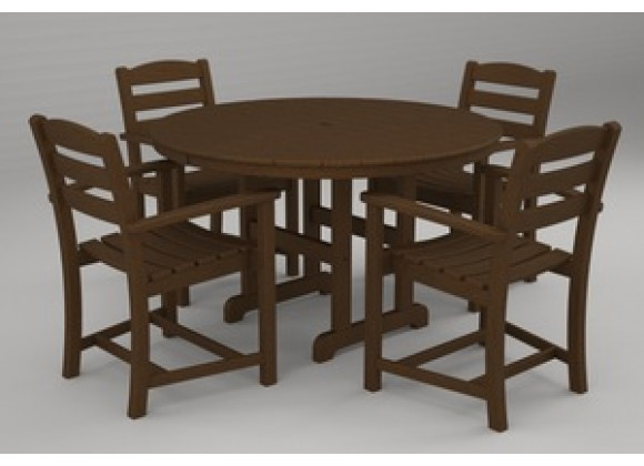 Poly-Wood La Casa 5-Pc. Dining Set in Teak