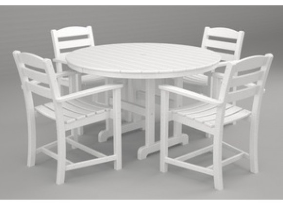 Poly-Wood La Casa 5-Pc. Dining Set in White