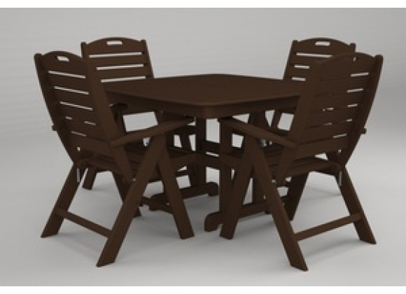 Poly-Wood Nautical 5-Pc. Dining Set in Mahogany