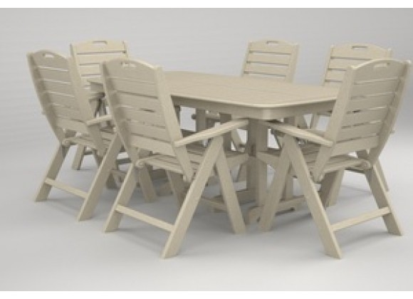 Poly-Wood Nautical 7-Pc. Dining Set in Sand