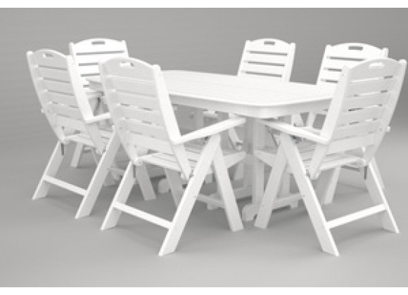 Poly-Wood Nautical 7-Pc. Dining Set in White