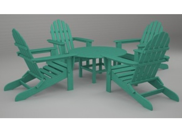 Poly-Wood Classic Adirondack 5 Piece Conversation Group