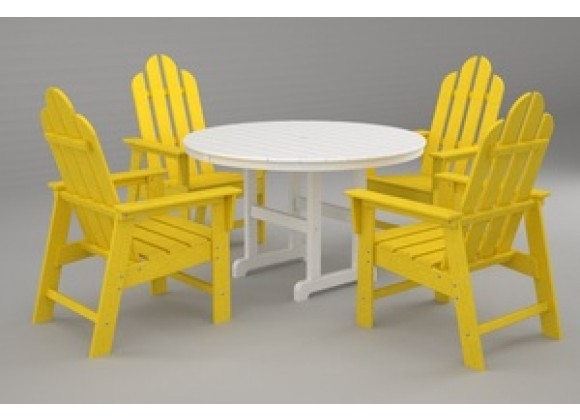 Poly-Wood Long Island 5-Pc. Dining Set in Lemon