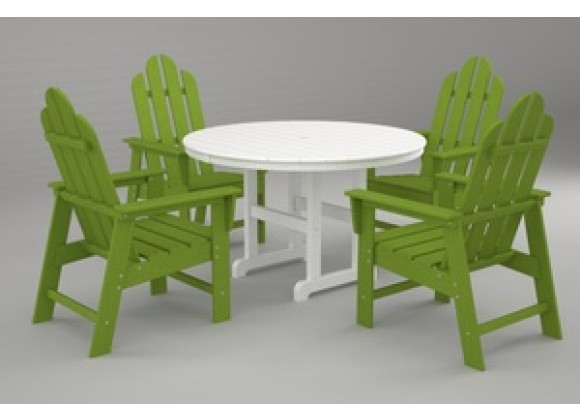 Poly-Wood Long Island 5-Pc. Dining Set in Lime