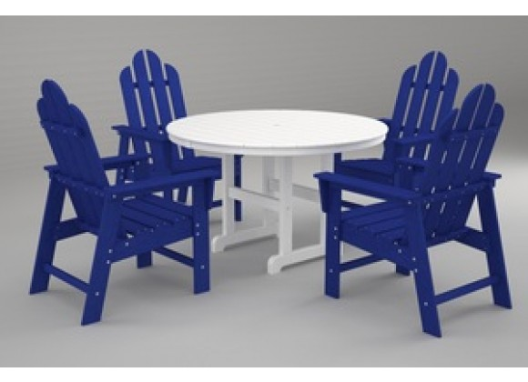 Poly-Wood Long Island 5-Pc. Dining Set in Pacific Blue