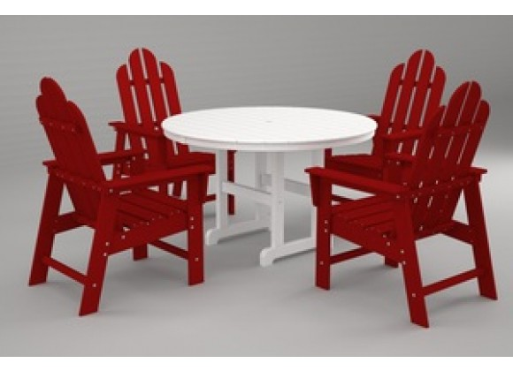 Poly-Wood Long Island 5-Pc. Dining Set in Sunset Red