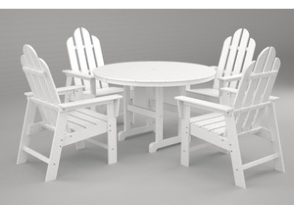 Poly-Wood Long Island 5-Pc. Dining Set in White