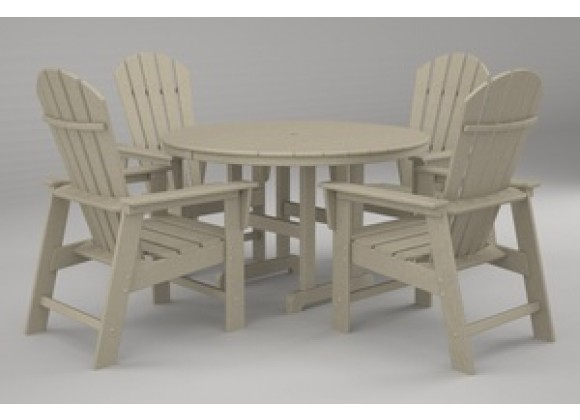 Poly-Wood South Beach 5-Pc. Dining Set in Sand