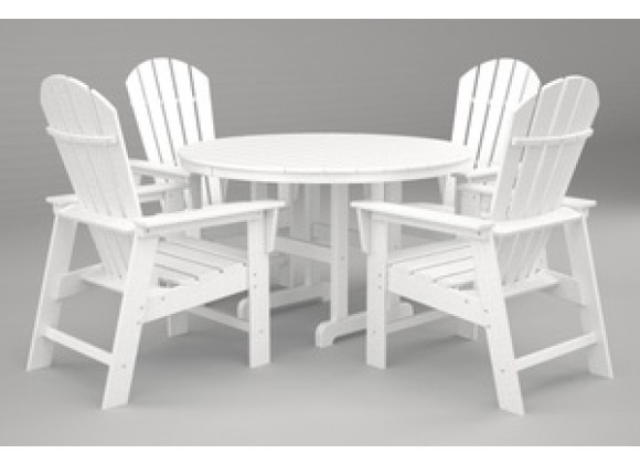 Poly-Wood South Beach 5-Pc. Dining Set in White