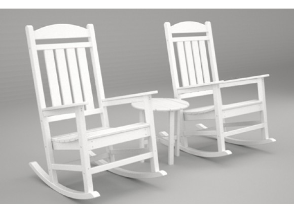 Poly-Wood Presidential 3-Pc. Rocker Set in White