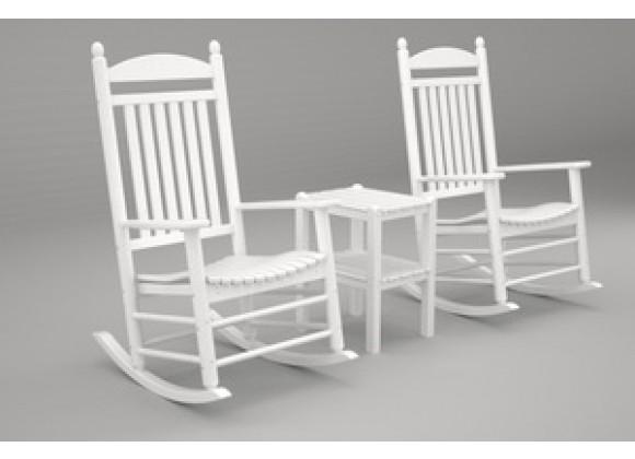 Poly-Wood Jefferson 3-Pc. Rocker Set in White