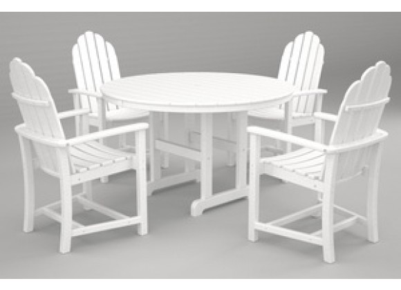 POLYWOOD¨ Adirondack Dining 5-Pc. Set in White