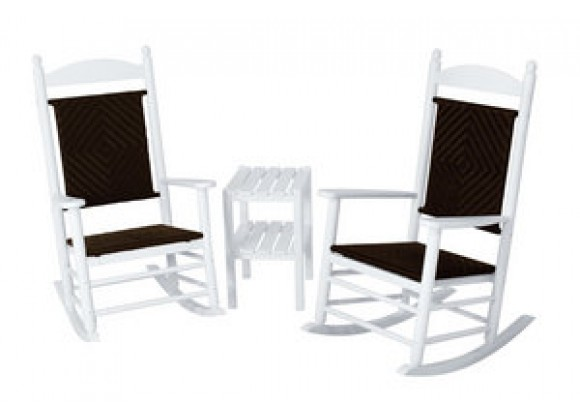 POLYWOOD¨ Jefferson 3-Piece Woven Rocker Set