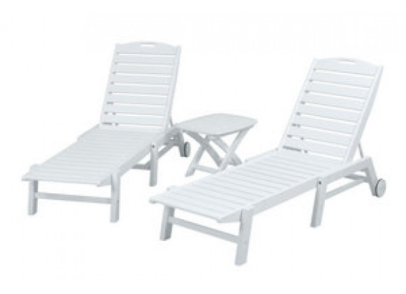 POLYWOOD¨ Nautical 3-Piece Chaise Set