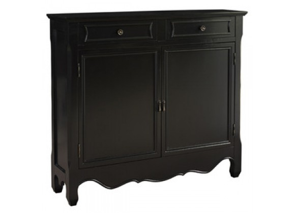 Powell Black 2-Door Console