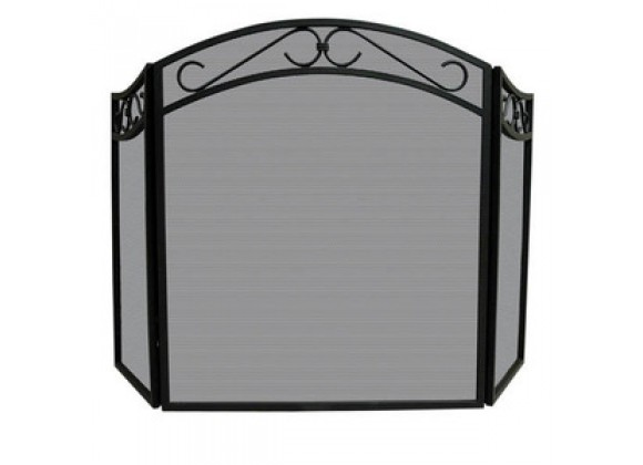 Fireside America 3 Panel Wrought Iron Arch Top Screen