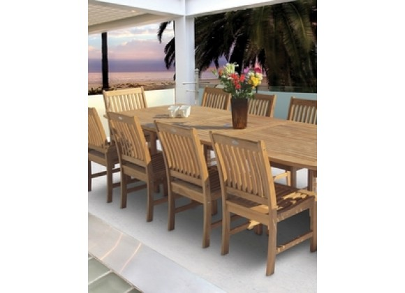 Royal Teak Compass Teak Side Chair
