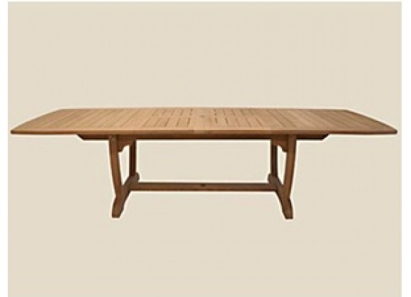 "Royal Teak 84/102/120"" Gala Expansion Table - Double Leaf"