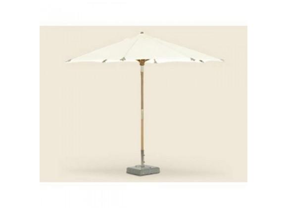 Royal Teak 10' Deluxe Umbrella - White