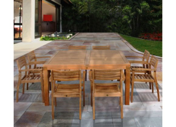International Home Miami Amazonia Teak Victoria 9 pc Teak Square Dining Set