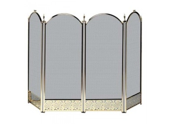 Fireside America 4 Panel Decorative Filigree Screen