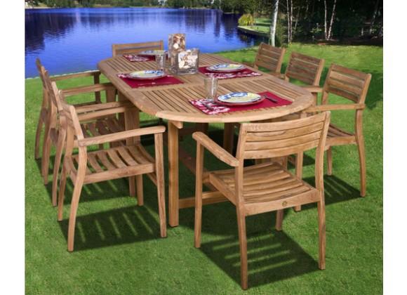 International Home Miami Amazonia Teak Coventry 9-pc Teak Dining Set