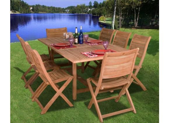 International Home Miami Amazonia Teak Dublin 9-pc Teak Dining Set