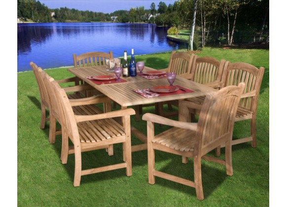 International Home Miami Amazonia Teak 9-PC Dining Set