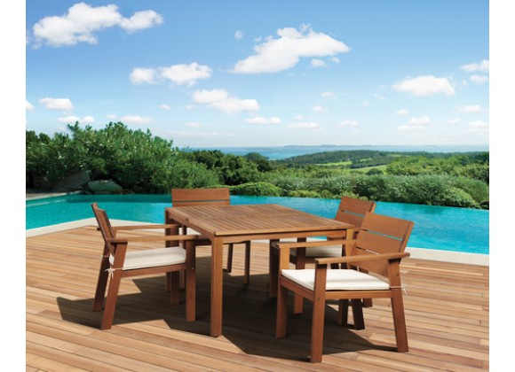 International Home Miami Amazonia Nelson Eucalyptus 5 piece Rectangular Patio Dining Set