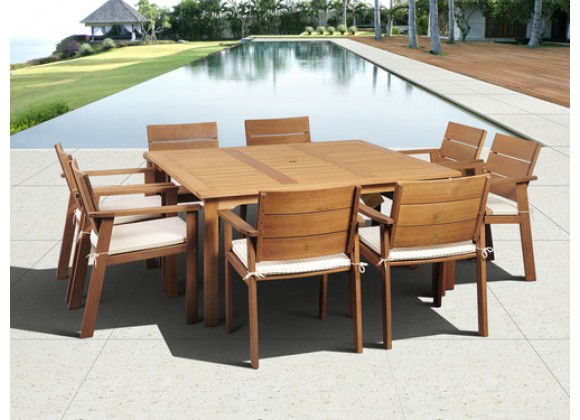 International Home Miami Amazonia Nelson Eucalyptus 9 piece Square Patio Dining Set