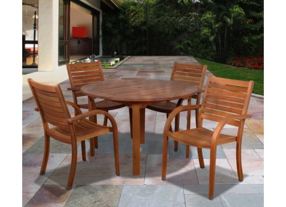 International Home Miami Amazonia Arizona 5 pc Eucalyptus Round Dining Set