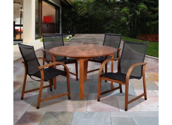 International Home Miami Amazonia Bahamas 5 Pc Eucalyptus Round Dining Set