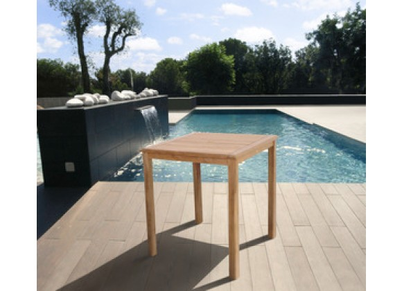 International Home Miami Amazonia Teak Eden Teak Bar Table