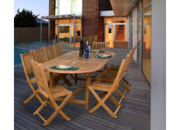 International Home Miami Amazonia Teak Bergen 11-pc Teak Dining Set