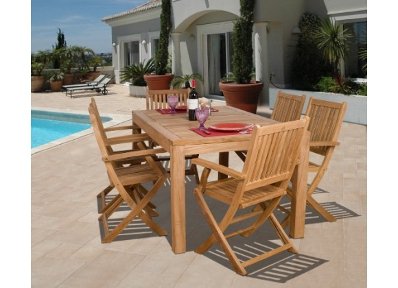 International Home Miami Amazonia Teak Budapest 7-pc Teak Dining Set