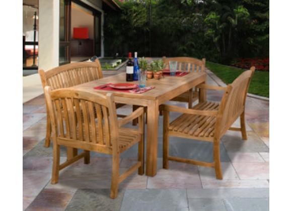 International Home Miami Amazonia Teak Geneve 5-pc Teak Dining Set