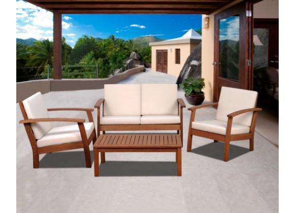 International Home Miami Amazonia Murano 4 pc Conversation Set