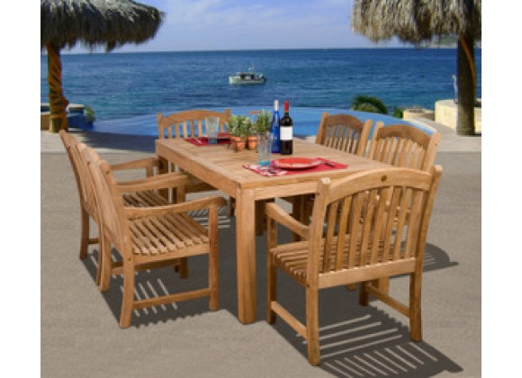 International Home Miami Amazonia Teak Oslo 7-pc Teak Dining Set